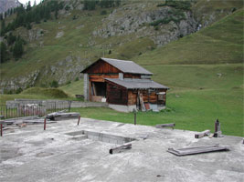 Sessellift-Umlenkstation u. Restaurantplattform, Lötschental